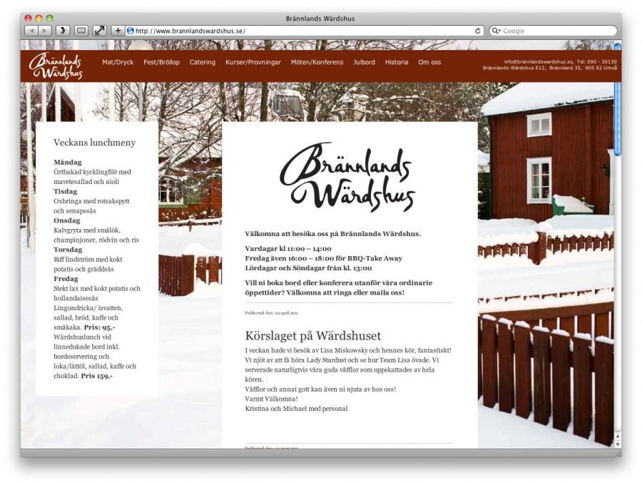 Bild på hemsidan som den ser ut idag.